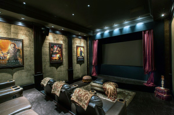 Private Home Theater Media Room Seating Ideas