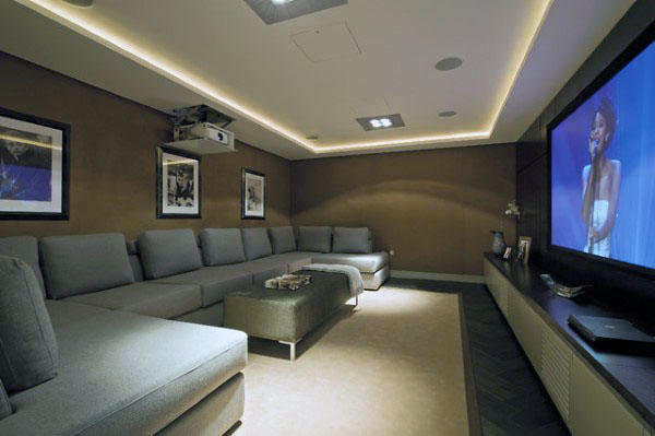Simple Basement Home Theater Design Inspiration
