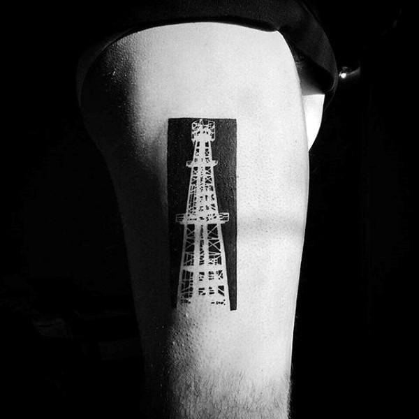 Male Forearms Sick Tattoo Of Small Eiffel Tower