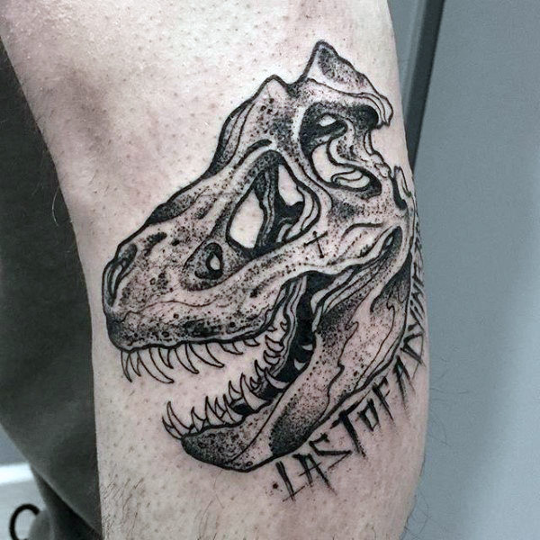Guys Forearms os de tatouage de dinosaure