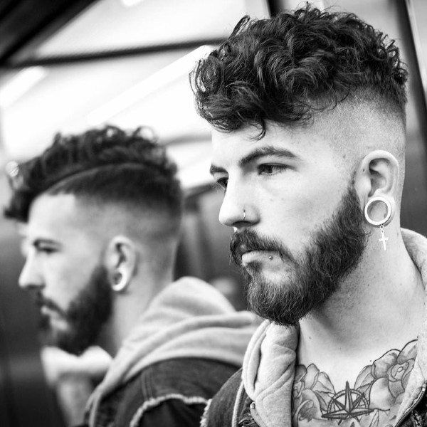Shaved Sides Hairstyles For Short Curly Hair Men