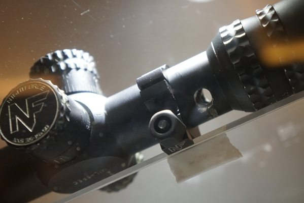 Nightforce Scope With Bullet Hole