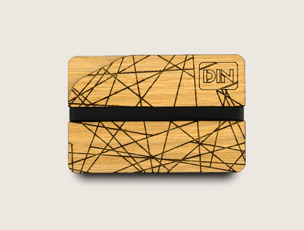 Dinwallets Abstract Wood Wallet For Men