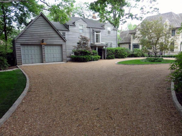 Loose Stone Driveway Edging Ideas