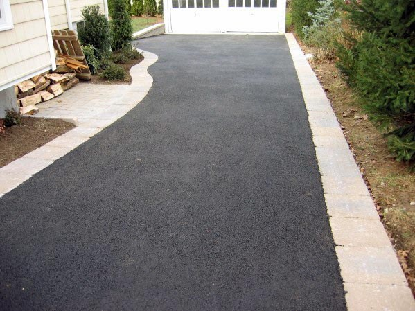 Simple Edging Ideas For Blacktop Driveway