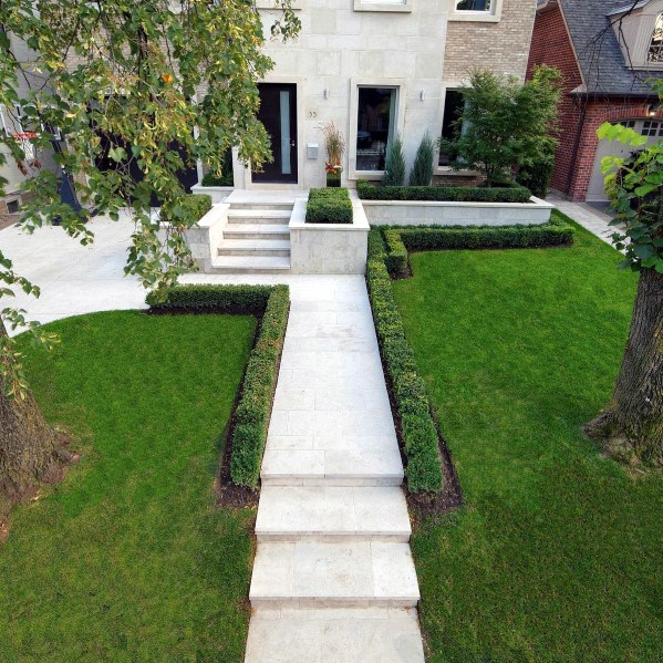 Flagstone Walkway Design Inspiration Front Yards