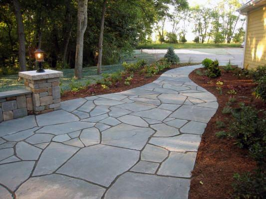 Flagstone Walkway Ideas Front Yard Designs