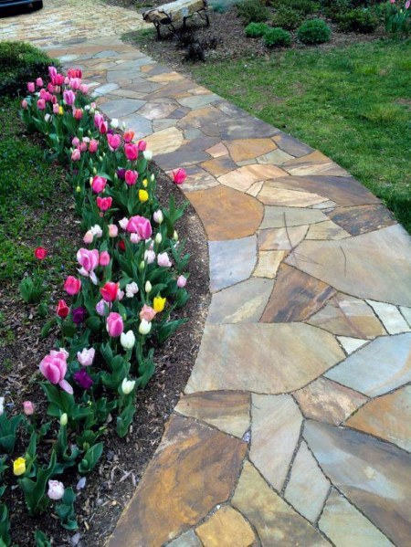Magnificent Flagstone Walkway Design Ideas