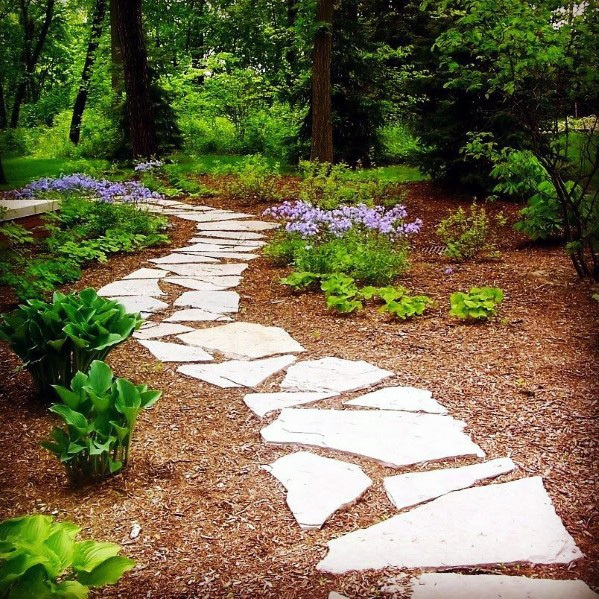 Diseños al aire libre Flagstone Walkway Stepping Stones Backyard