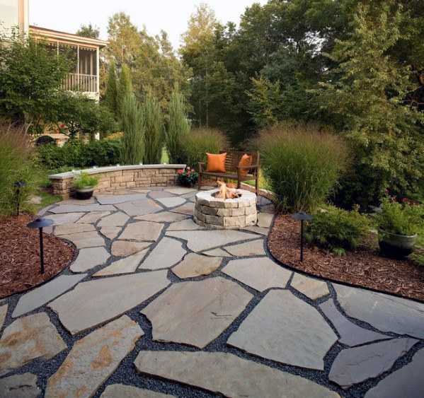 Patio Ideas For Flagstone Walkway