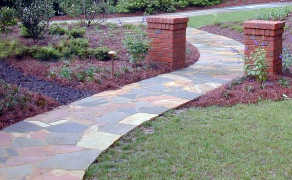 Curved Flagstone Walkway Path Idea Inspiration