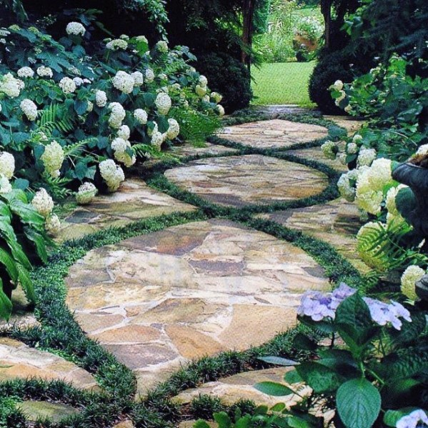 Excelente patio trasero Ideas Flagstone Walkway