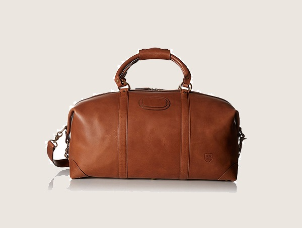 Allen Edmonds Tan Saddle Weekender Bag For Men