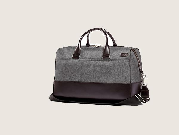 Jack Spade Tech Oxfor Travel Grey Weekender Bag For Men