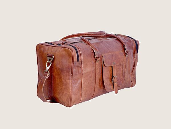 Komals Passion Leather Kpl Vintage Leather Weekender Bag For Men