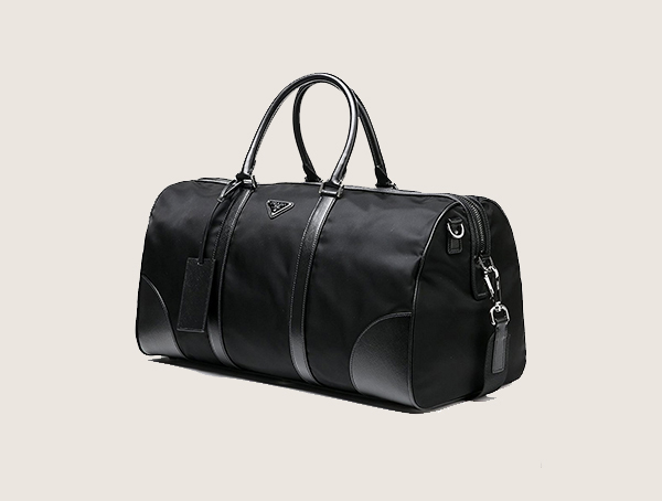Prada Triangle Logo Detail Weekender Bag For Men