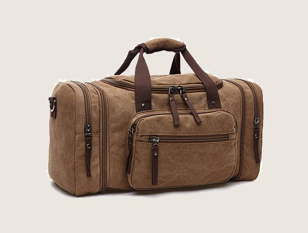 Toupons Large Canvas Travel Tote Luggage Weekender Bag For Men