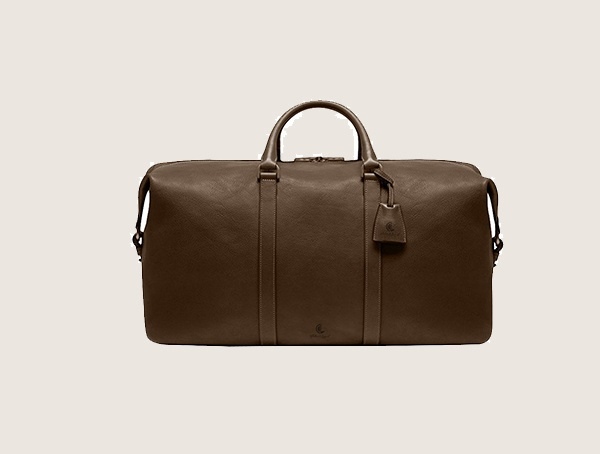 Chateau De Laquant Monte Carlo Leather Carry On Weekender Bag For Men