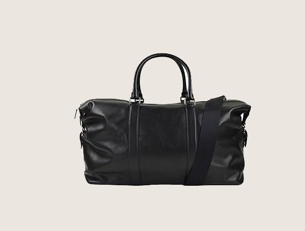 Coach Voyager 52 Sport Black Leather Weekender Bag For Men