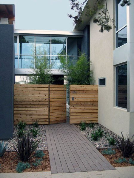 Entry Wooden Gate Ideas
