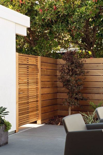 Home Exterior Designs Wooden Gate