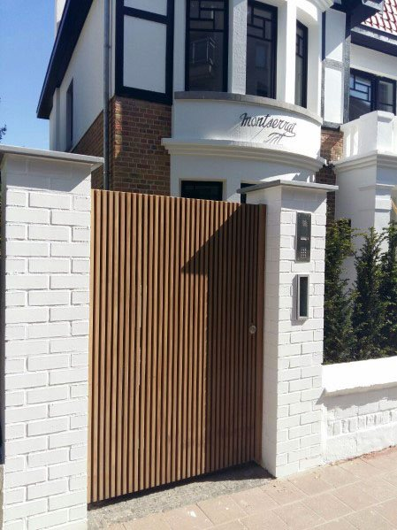Magnificent Wooden Gate Design Ideas