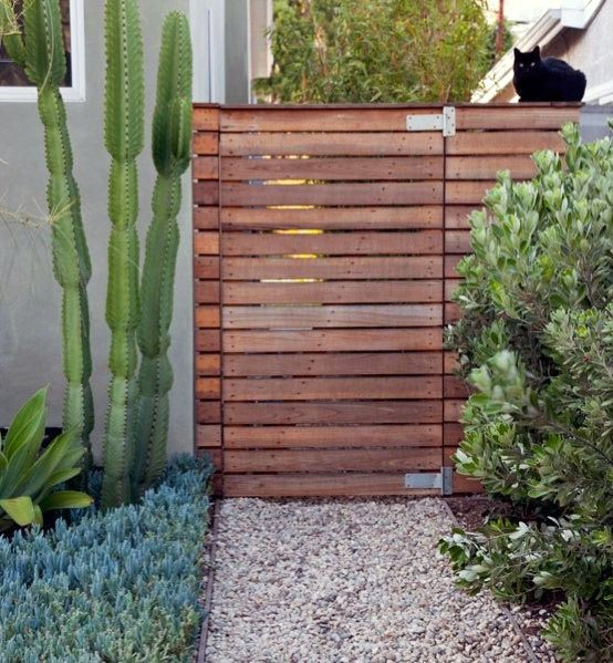 Stunning Hidden Exterior Wooden Gate Designs