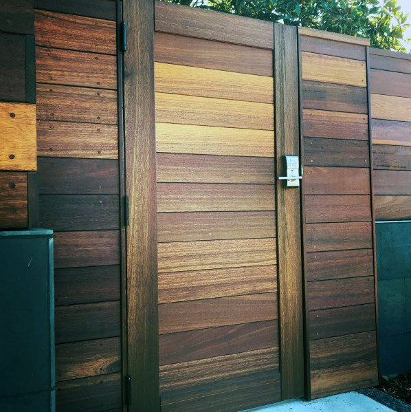 Tall Wooden Gate Exterior Design