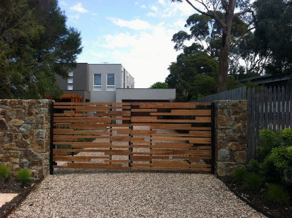 Contemporary Design Wooden Gate Ideas