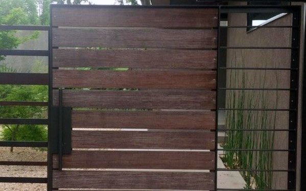 Cool Ultra Modern Metal Wooden Gate