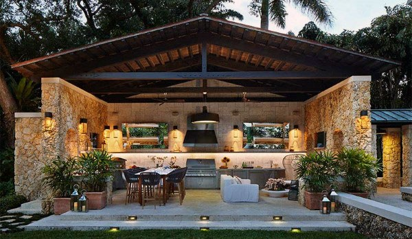 Outdoor Backyard Pavilion mallit