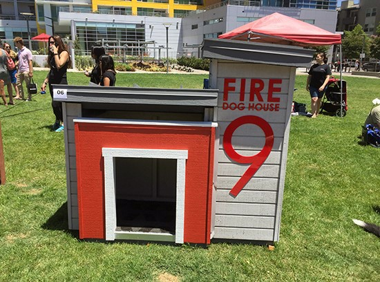 Cool Custom Dog Houses Fire Station Themed