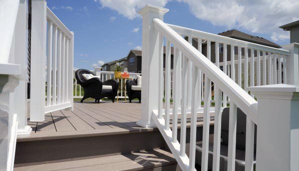 White Traditional Deck Gate Home Designs