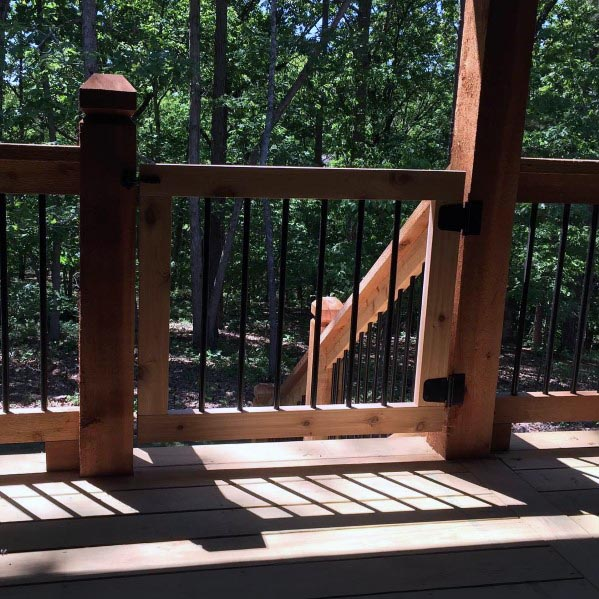 Wood And Metal Deck Gate Design Inspiration
