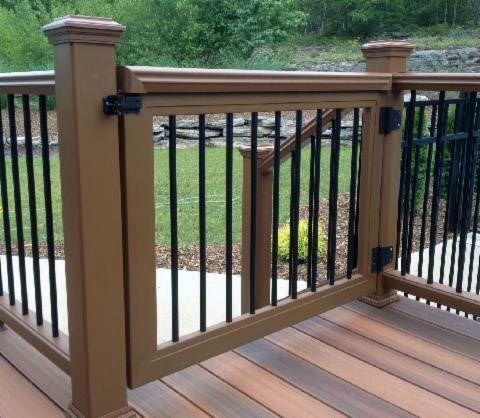Composite With Metal Balusters Ideas For Deck Gate