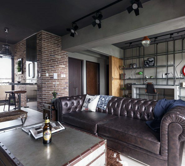 Bachelor Pad Industrial Interior Designs