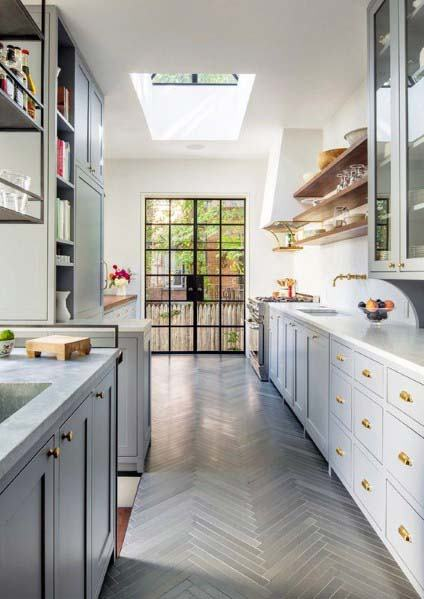 Kitchen Tile Floor Design Inspiration