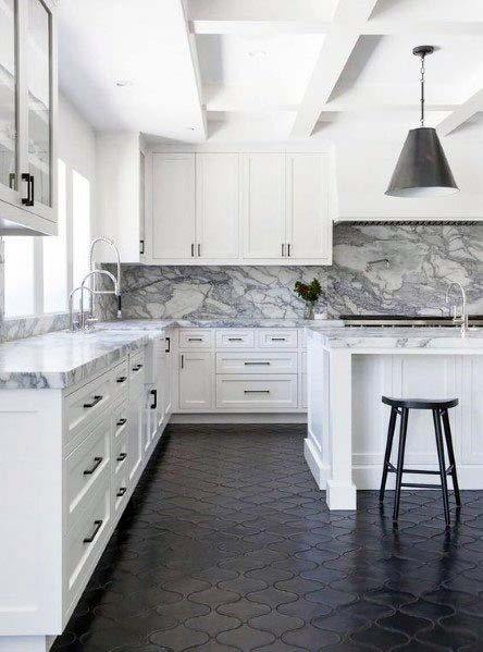 Stunning Interior Kitchen Tile Floor Designs