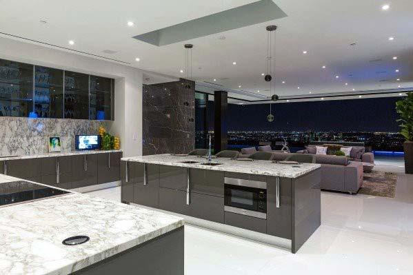 Ultra Modern White Marble Ideas For Kitchen Tile Floor