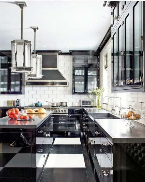 Checkered Design Ideas Kitchen Tile Floor