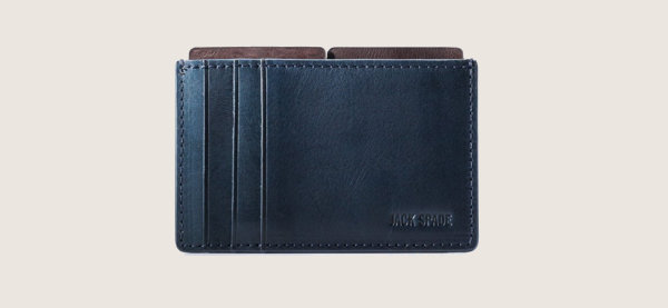Jack Spade Mitchell Leather File Minimalist Wallet para hombres