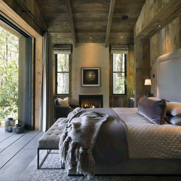 Home Interior Designs Rustic Ceiling Master Bedroom
