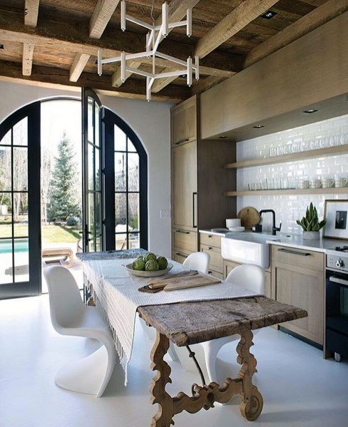 Kitchen Excellent Interior Ideas Rustic Ceiling
