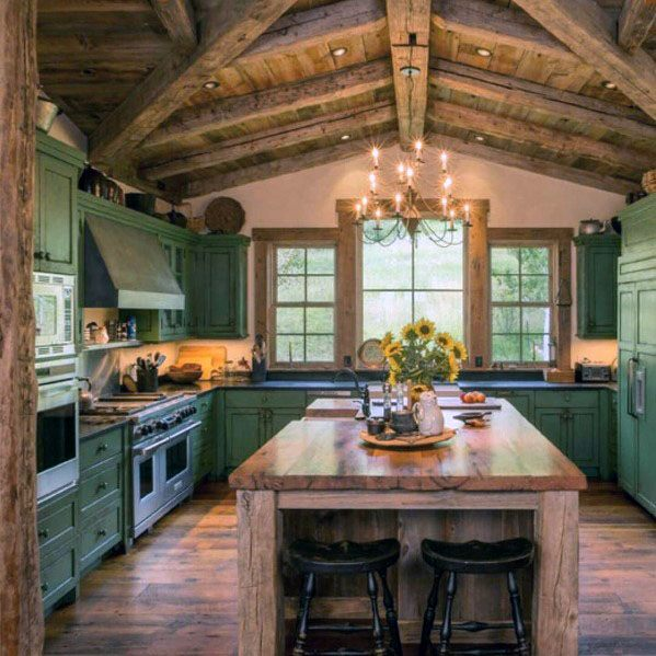 Rustic Ceiling Design Inspiration Kitchen