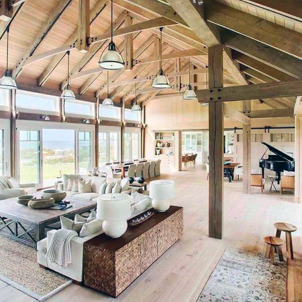 Rustic Ceiling Home Designs Great Room