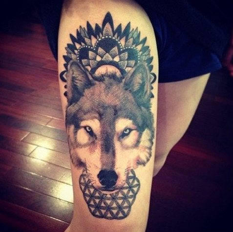 Men's Wolf Tattoos