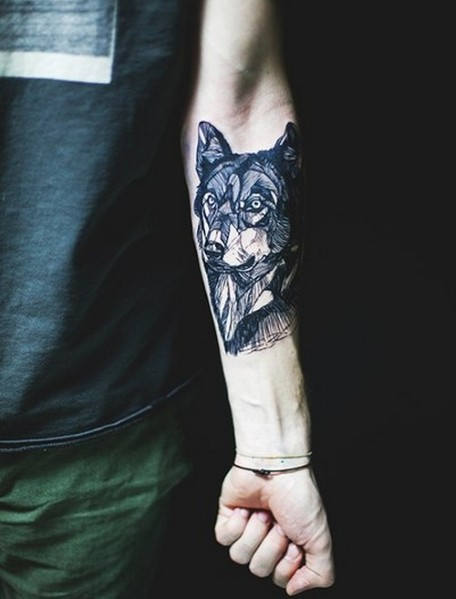 Wolf Tattoo Ideat miehille