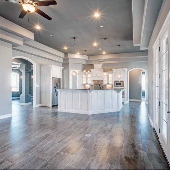 Exceptional Kitchen And Living Room Open Concept Trey Ceiling Ideas