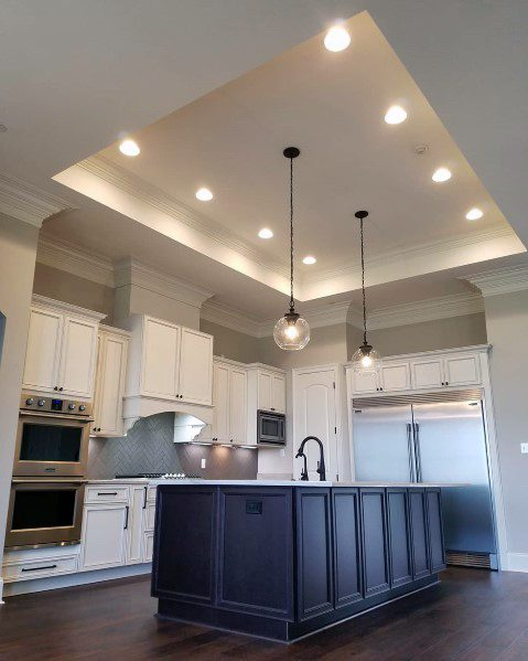 Kitchen Trey Ceiling Ideas With Recessed Can Lighting