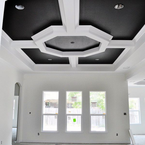 Black And White Awesome Trey Ceiling Ideas